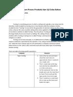Praktikum Proses Produksi dan Uji Coba Bahan