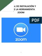 MANUAL DE INSTALACIÓN Y USO DE HERRAMIENTA ZOOM