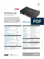 Audison Forza Apf8.9bit-24v Tech-sheet 2019