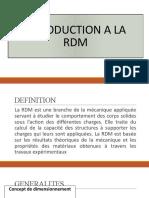 INTRODUCTION A LA RDM