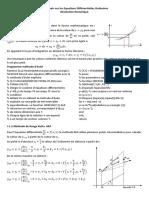 I – Rappels sur les Equations Différentielles Ordinaires