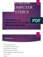 CHAPTER 3(A) PROFESSIONAL ETHICS RESPONSIBILITIES(1)