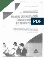 LIQUIDACION DE OBRAS PUBLICAS