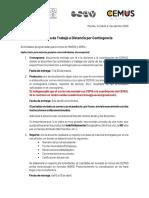 Protocolo de Trabajo a Distancia Por Contingencia de COVID-19