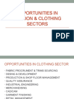 OPPORTUNITIES IN TEXTILE SECTORS