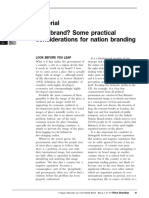 Why brand? Some practical considerations for nation branding