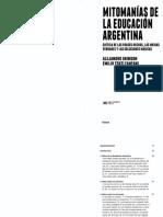 (B. COMPL) Mitomanías de la Educación argentina A. Grimson- T. Fanfani