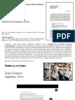 Fundamentos teóricos para Jean Franco