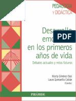Desarrollo emocional en los primeros años de vida - Marta Giménez-Dasí