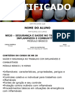 Certificado NR20