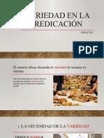 VARIEDAD EN LA PREDICACIÓN iSMAEL NICOLAS