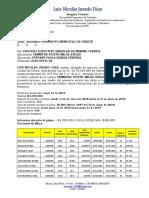 LIQUIDACIONES DE CREDITO DE JAVIER DAVID GONZALEZ CONDE