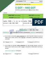 have got - has got - afirmativo - 1er parte