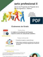RESOLUCIÓN No 001 EXAMENES DE GRADO