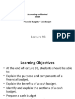 Lecture 9B_Financial Budgets