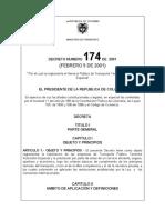Decreto-174-de-2001 Transporte Terrestre automotor Especial