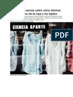 Qué dice la ciencia sobre cómo eliminar el coronavirus de la ropa y los tejidos.doc