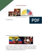 5 funciones del Estado Ecuador 2020