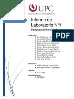 Laboratorio 1 Metrologia Dimensional Grupo 1-Iv71