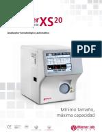 Analizador de hematología automático Counter XS 20