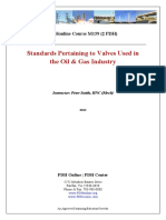 Course material- Standards pertaining to Valves