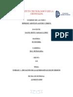UNIDAD 5.- EDUCACIÓN DE LA ALTERNATIVAS DE INVERSIÓN
