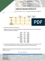 ejemplo anlisis insumo producto (S)