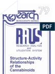 Structure-Activity Relationships of the Cannabinoids