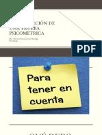 CONSTRUCCIÓN DE UNA PRUEBA PSICOMETRICA