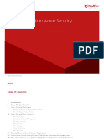 Knowledge of Azure Security