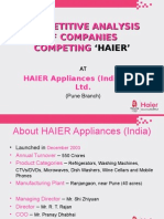 Haier India Survey (Pune, Maharashtra Region)