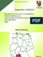 New EU Regulation 1169_2011