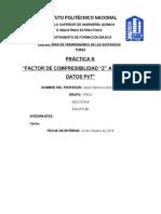 Practica 9 Factor de Compresibilidad Z a partir de datos PVT