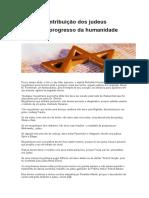 Contribuição dos judeus para o progresso da humanidade (1)