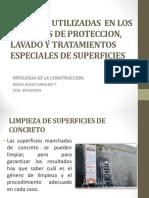 TECNICAS UTILIZADAS  EN LOS PROCESOS DE PROTECCION,ESPECIALES DE SUPERFICIES