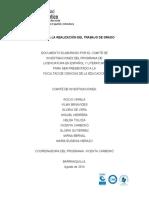 GUIA PARA LA REALIZACION DEL TRABAJO DE GRADO 2013-1GVera