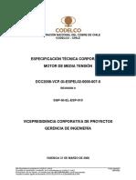 DCC2008-VCP.GI-ESPEL02-0000-007-0 Motor de Media Tensión
