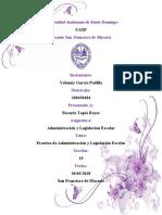 Práctica de Administración y legislación escolar