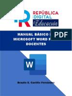 MANUAL BÁSICO DE MICROSOFT WORD PARA DOCENTES