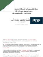Aspetti organizzativi legati all'uso didattico (1)