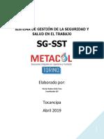 MANUAL SG-SST METACOL 2019