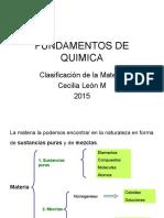 1. CLASIFICACION DE LA MATERIA