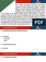 Ação de Ressarcimento - Ação Edílica por Vício Redibitório CASO - Juliana