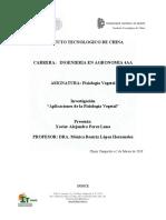 Inestigacion sobre las aplicaciones de la fisiología vegetal