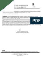 Certificado de  CV antecedentes.YIRA PROCURADURIA