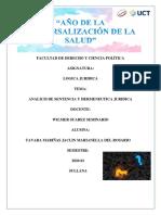 ANALICIS DE SENTENCIA Y HERMENEUTICA JURIDICA