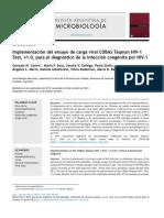 Implementación del ensayo de carga viral COBAS Taqman HIV-1Test