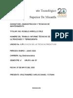 U-6  Informe Técnicas de ultrasonido y termografía Cruz Ramirez Carlos Daniel