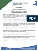 NOTA DE PRENSA - BENDICION DESDE EL CIELO