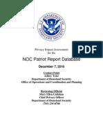 DHS Suspicious Activity
